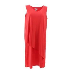 Susan Graver Sleeveless Asymmetrical Dress